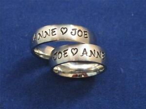 2-Stainless-Steel-6mm-Personalized-Couples-Name-Ring-Bands-Wedding-Anniversary
