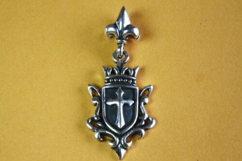 Royal Fleur-de-Lys lirios cruz remolque 925 plata colgante 327