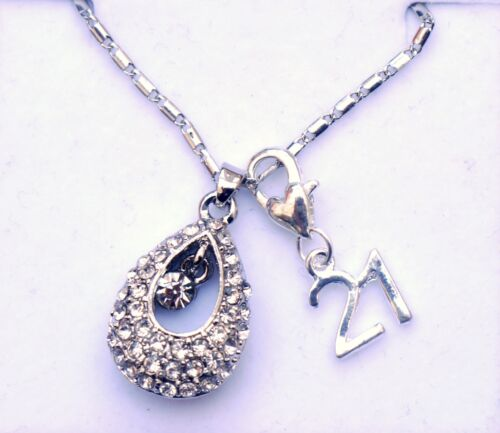 PERSONALISED HAPPY BIRTHDAY 16TH//18TH//21ST//30TH//40TH//50TH NECKLACE PENDANT BOX