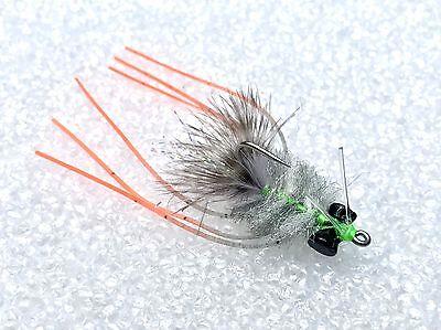 6 flies Palometa Crab Olive Fly Fishing Flies Redfish, Permit, Bonefish