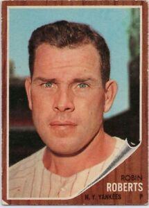 1962-Topps-243-Robin-Roberts-VG-VGEX-New-York-Yankees-FREE-SHIPPING
