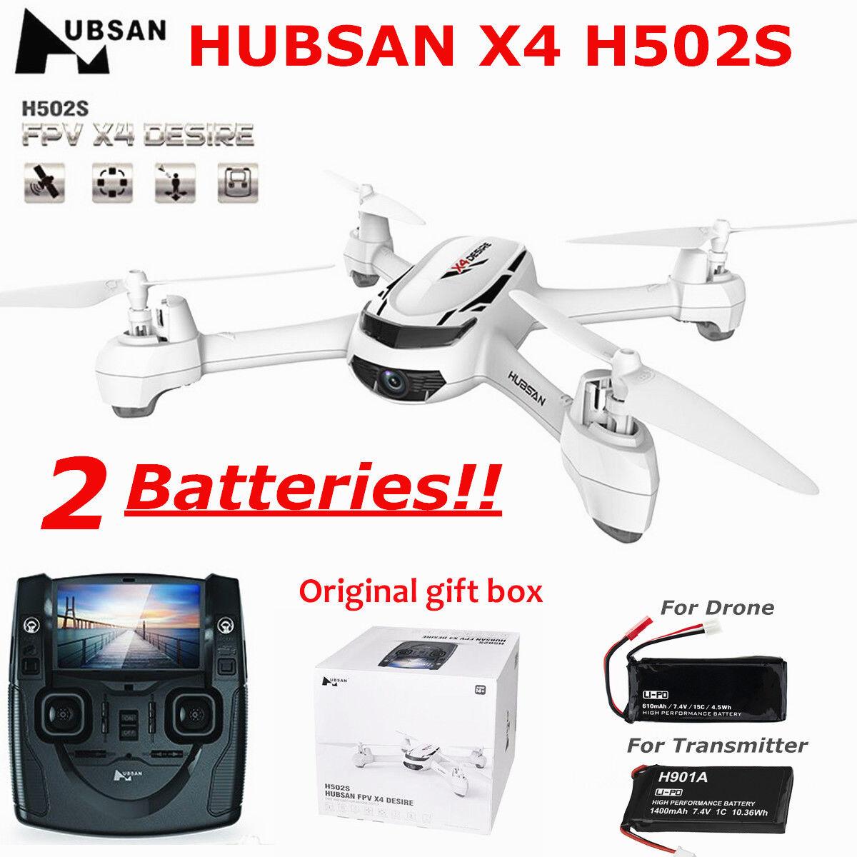 Hubsan H502S X4 FPV DRONE 5.8G 720P GPS Modo sin cabeza Aoto-Retorno Cuadricóptero RC
