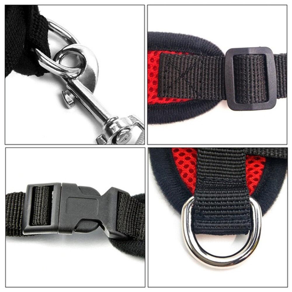 Dog Mesh Harness Pet Cat Harness Leash Set Walk Collar Safety Strap Vest 5