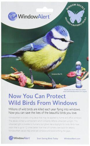 2-Pack Window Alert 4 Butterfly Decals Protect Wild Birds