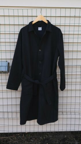 orSlow Prisoner Belted Coat Navy Lambswool Size 3