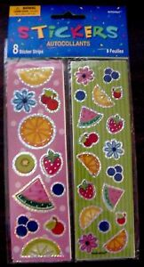 NIP-NEW-VINTAGE-AMSCAN-FRUIT-AUTOCOLLANT-STICKER-SHEET-STRIP-SCRAPBOOKING-CRAFT
