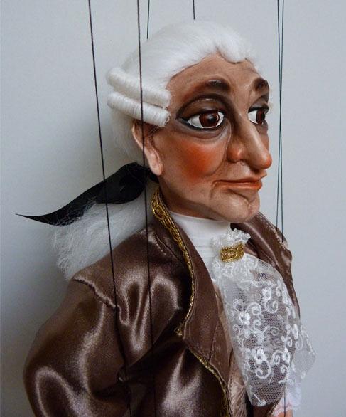 MOZART - original marionette, 20 inches tall, handmade from CZECH REPUBLIC