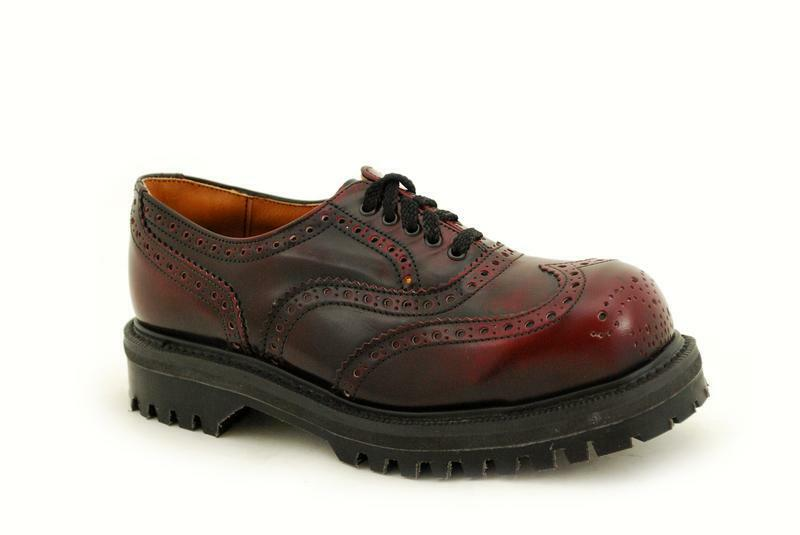 Premium Ranger NPS Made in England Burgundy Brogue 5 Eye Steelcap NS048-X1L811BU
