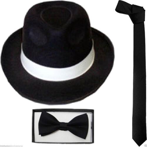 NEW DELUXE MICHAEL JACKSON /& GLOVE GANGSTER RINGMASTER LINCOLN HAT FANCY DRESS