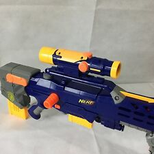 Nerf N Strike Longshot CS-6 Rifle Gun Scope Dart Sniper Blaster Barrel Blue