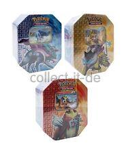 Pokemon 3 Heartgold Soulsilver Tin-Boxen Entei + Raikou + Suicune