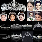 lady girl Bridal Princess shine Crystal Hair Tiara Wedding Crown Veil Headband