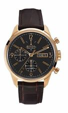Bulova Accutron Men's 64C106 Accu Swiss Murren Chronograph Leather Watch