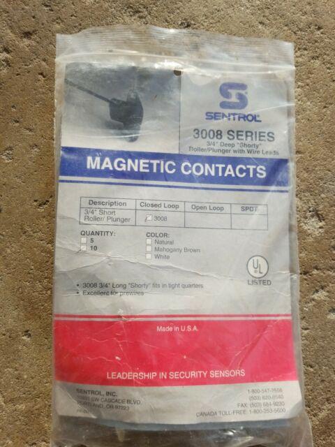 Interlogix 3008 M BR Roller Ball Plunger Brown Recessed Door Contact 4
