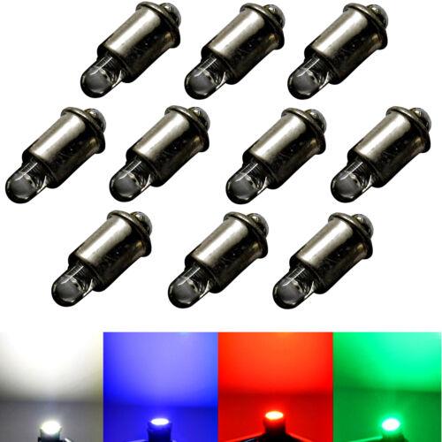 E5,5 für Märklin Glühlampen Modellbau kaltweiß rot grün 100x 12V-19V LED MS4