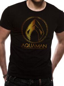 Aquaman Logo Justice League DC Comics Licensed Adult T-Shirt