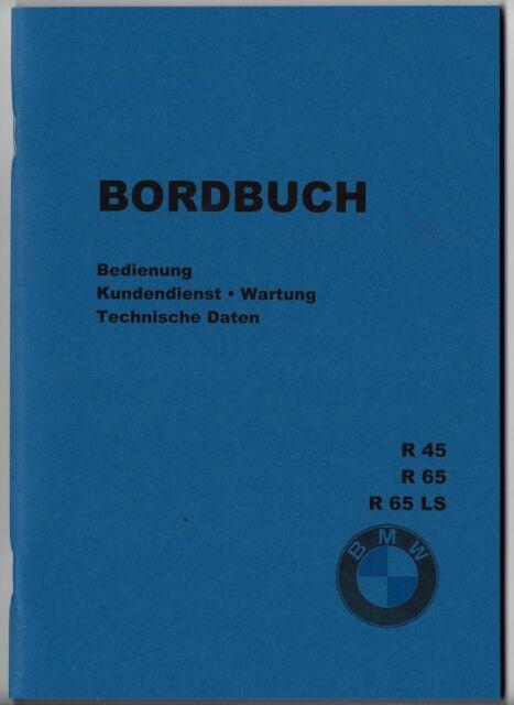 Bordbuch BMW R 45 / R 65 / R 65 LS,  A 5,