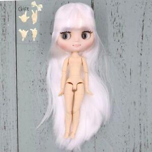 Blythe Middie 1/8 Cuerpo Articulado 20 cm Pelo Largo Liso Blanco Rosado Fleco | eBay