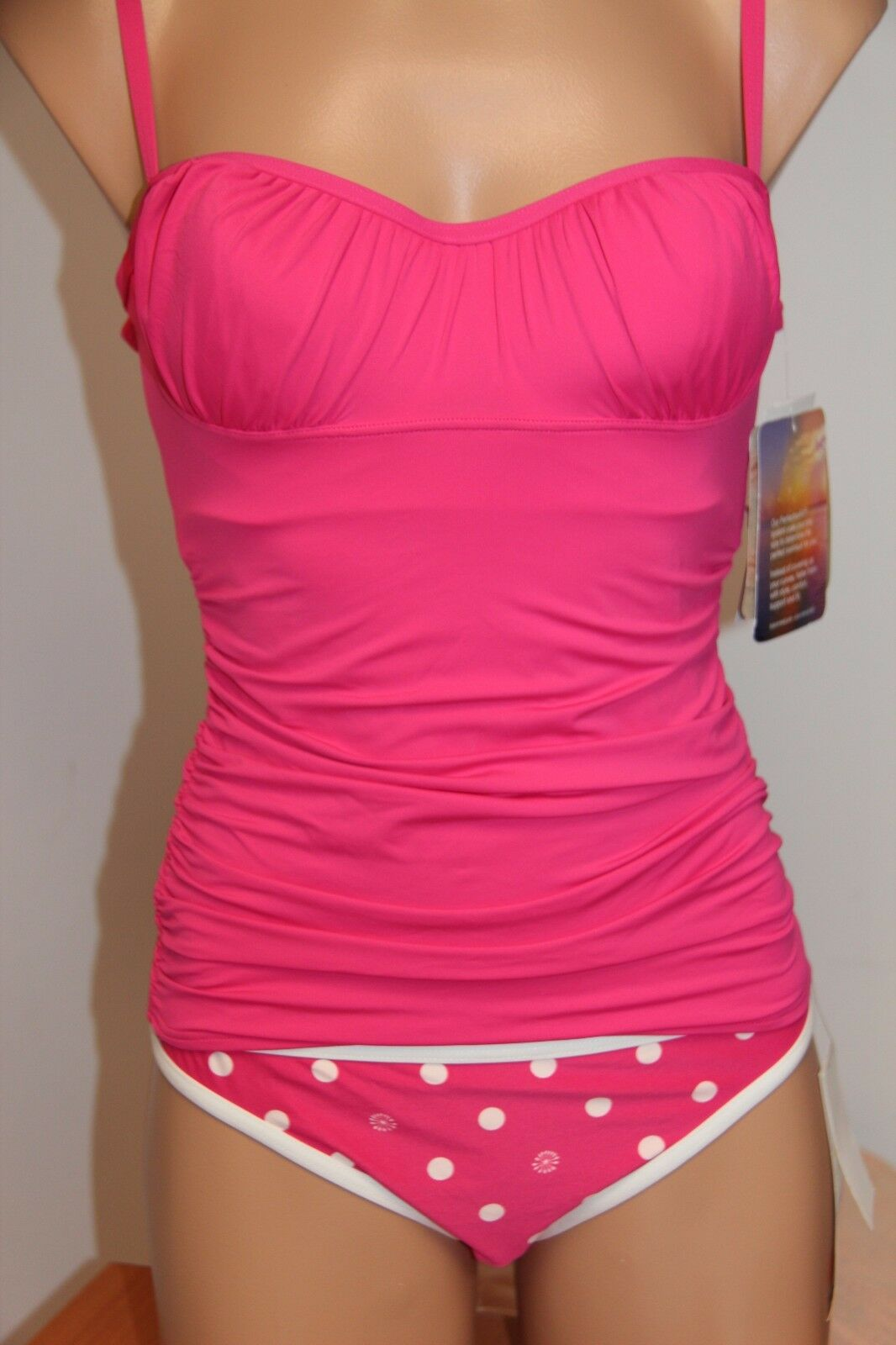 NWT Coco Rave Swimsuit Tankini 2pc set Size S 30 32C Cup S U-Wire Watermelon