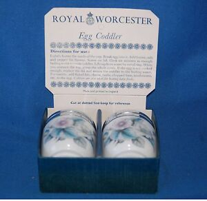 Pair of boxed Royal Worcester  034Woodland034 egg coddlers - <span itemprop=availableAtOrFrom>Hull, United Kingdom</span> - Pair of boxed Royal Worcester  034Woodland034 egg coddlers - Hull, United Kingdom