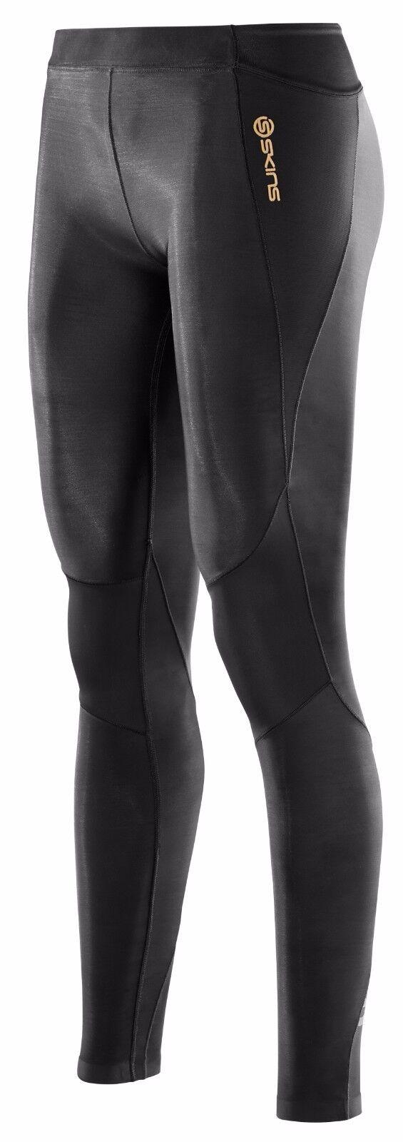 Auténtico compresión Skins  A400 para Mujer Largo Mallas   Negro  marca en liquidación de venta
