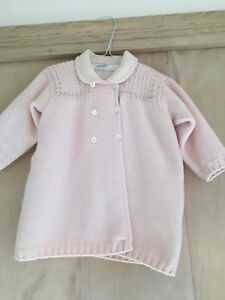 Girls' Clothing (newborn-5t) Good Le Chicche Made In Italy Pink 100% Wool Knit Girls Sweater/coat 2019 Official