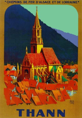 3107.Thann Cathedral France Travel POSTER.French Art room home office decoration