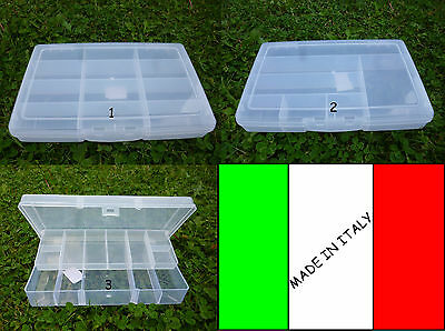 Cassetta Porta Accessori Da Pesca Piombi Ami Girelle Scatola Plastica Scatolina