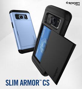 reputable site 7a229 65d7c Details about Spigen Slim Armor CS Hard ID Card Pocket Cover Samsung Galaxy  S7 S7 Edge Case