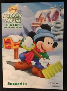 New Disney Christmas Mickey Mouse Coloring Book Snowed In Bendon