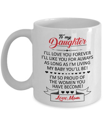 To My Daughter Coffee Mug From Mother To Say I Love You Sunflower Girls Gift Cup