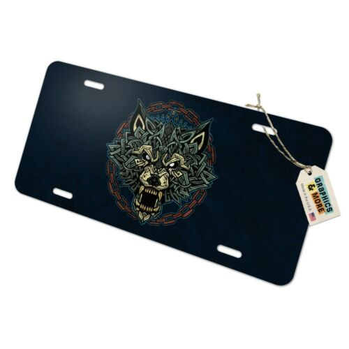 Fenrir Wolf In Chains Norse Mythology Metal Vanity Tag License Plate