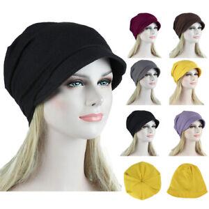 Women-Soild-Muslim-Stretch-Cancer-Chemo-Turban-Hat-Hair-Loss-Head-Scarf-Wrap-Y8