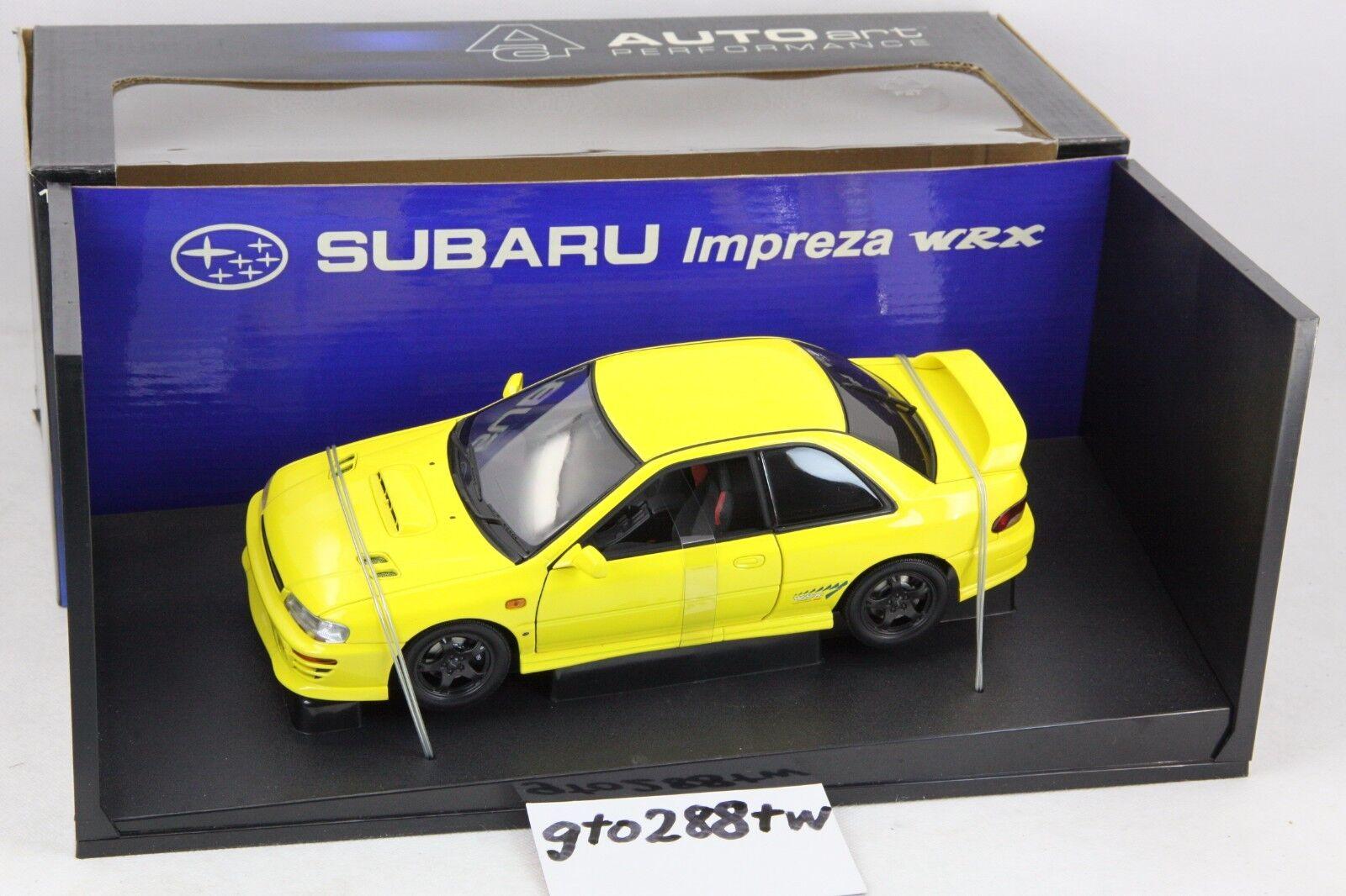 AUTOart 1:18 scale Subaru Impreza WRX Type R GC8 giallo  78611 RARE/NEW IN BOX