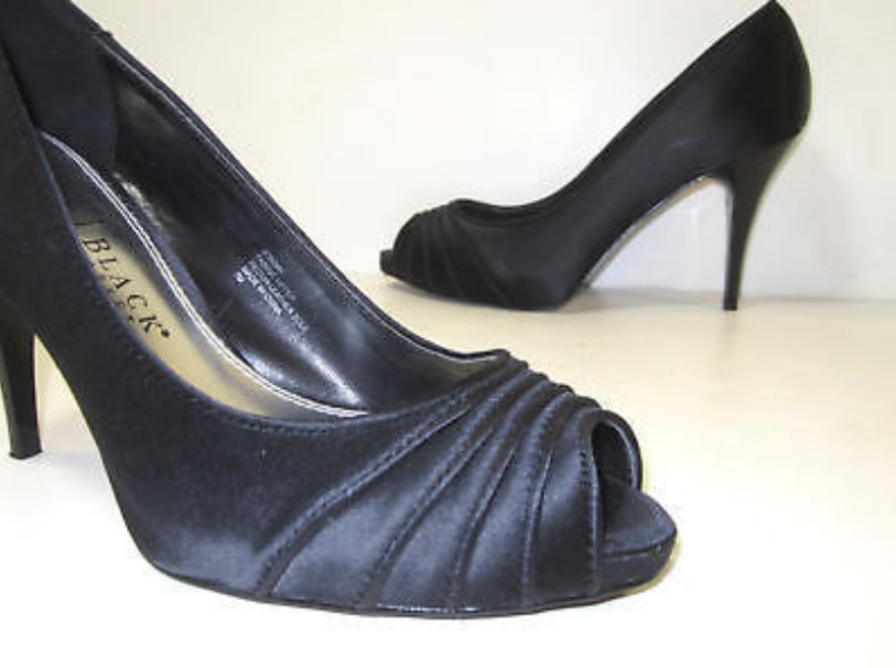 Womens Black High Heels Open Toe Toe Toe Size 7 M 34f5ac