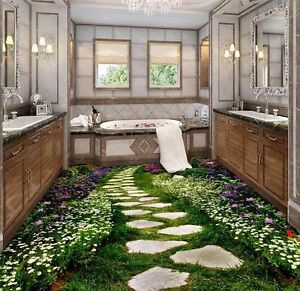 Amazing Image Is Loading 3D Green Garden Stone Lane Floor Mural Photo
