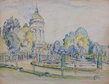 Mannheim am Wasserturm,Otto Ditscher 1903,Impressionist