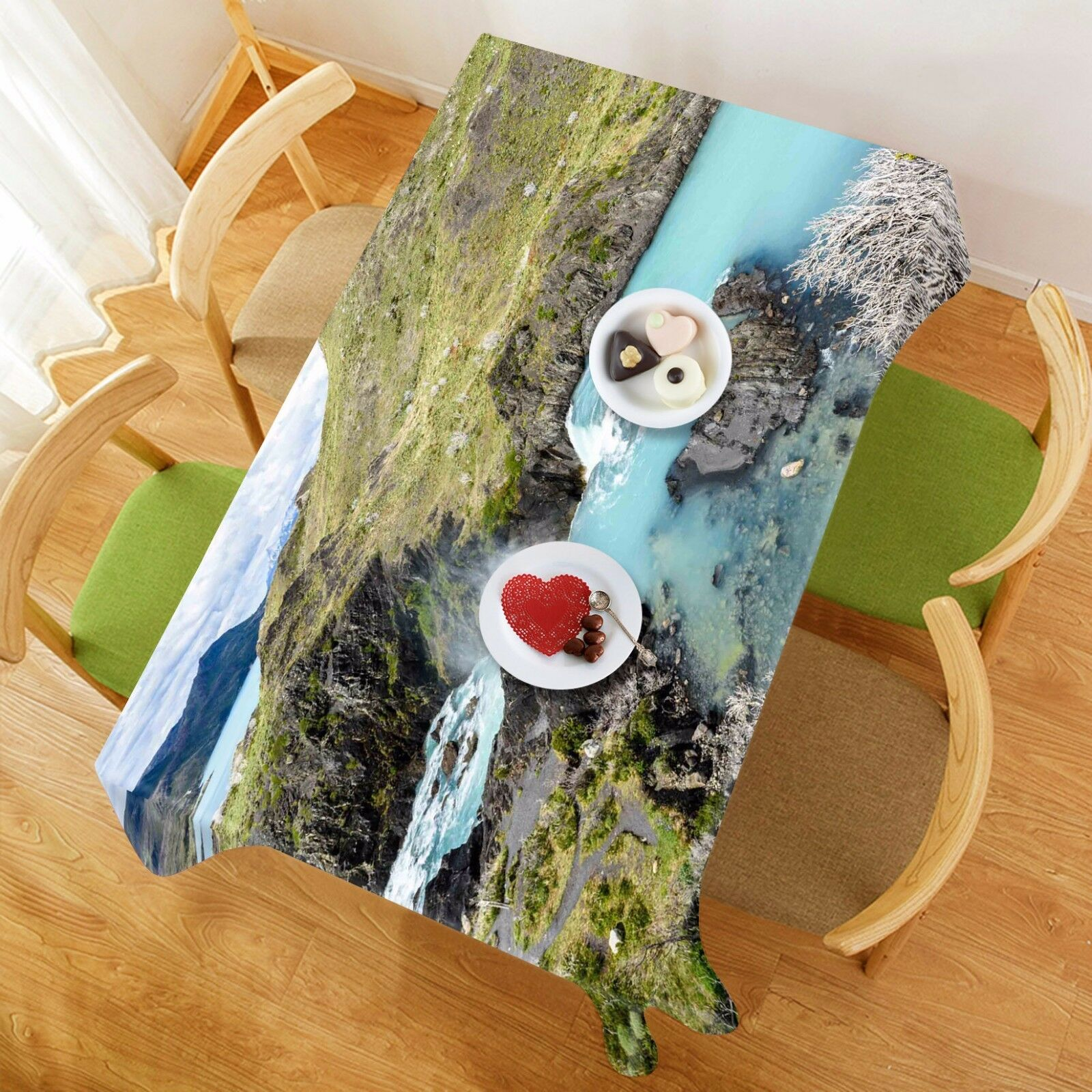 3D Pelouse Lake 79 Nappe Table Cover Cloth Fête D'Anniversaire événement AJ papier peint UK