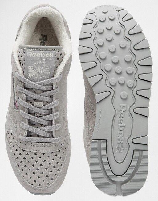 Reebok CL Classic Leder SP Damenschuhe Star Grau Trainers - BNIB UK Größe 3 - BNIB - e07830