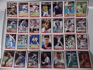 1991-Topps-Cleveland-Indians-Team-Set-of-30-Baseball-Cards