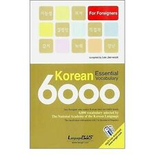 Korean Essential Vocabulary 6000 Korea Hangul Language Pocket Book Learn Study