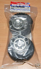 Tamiya 54554 Rock Block Tires w/2-Piece 5-Spoke Wheels (CC-01/High-Lift/Jeep)