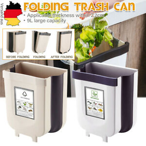 9L Mülleimer Wandmontage Faltbar Küche Hygiene Abfallbehälter Abfalleimer DE