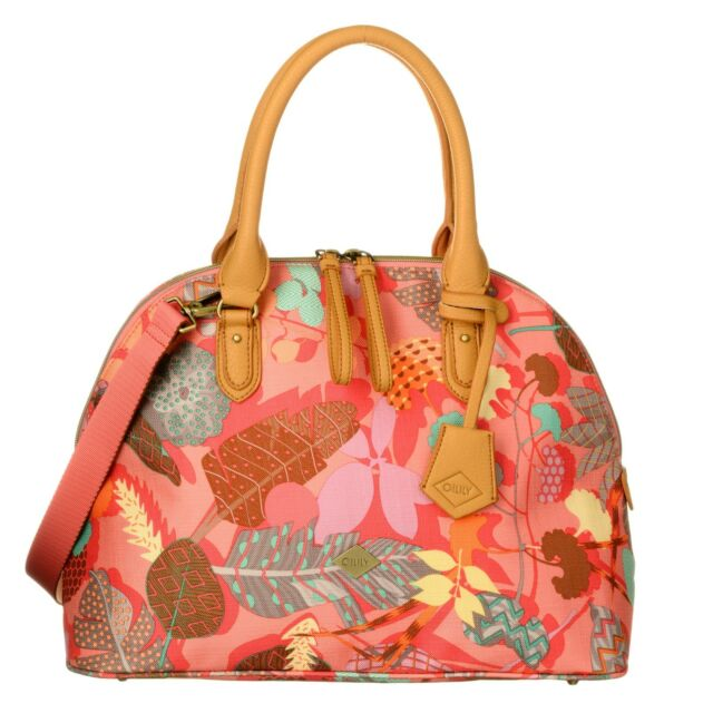 Oilily Shoulder Bag Botanic Pop Boston Pink Flamingo