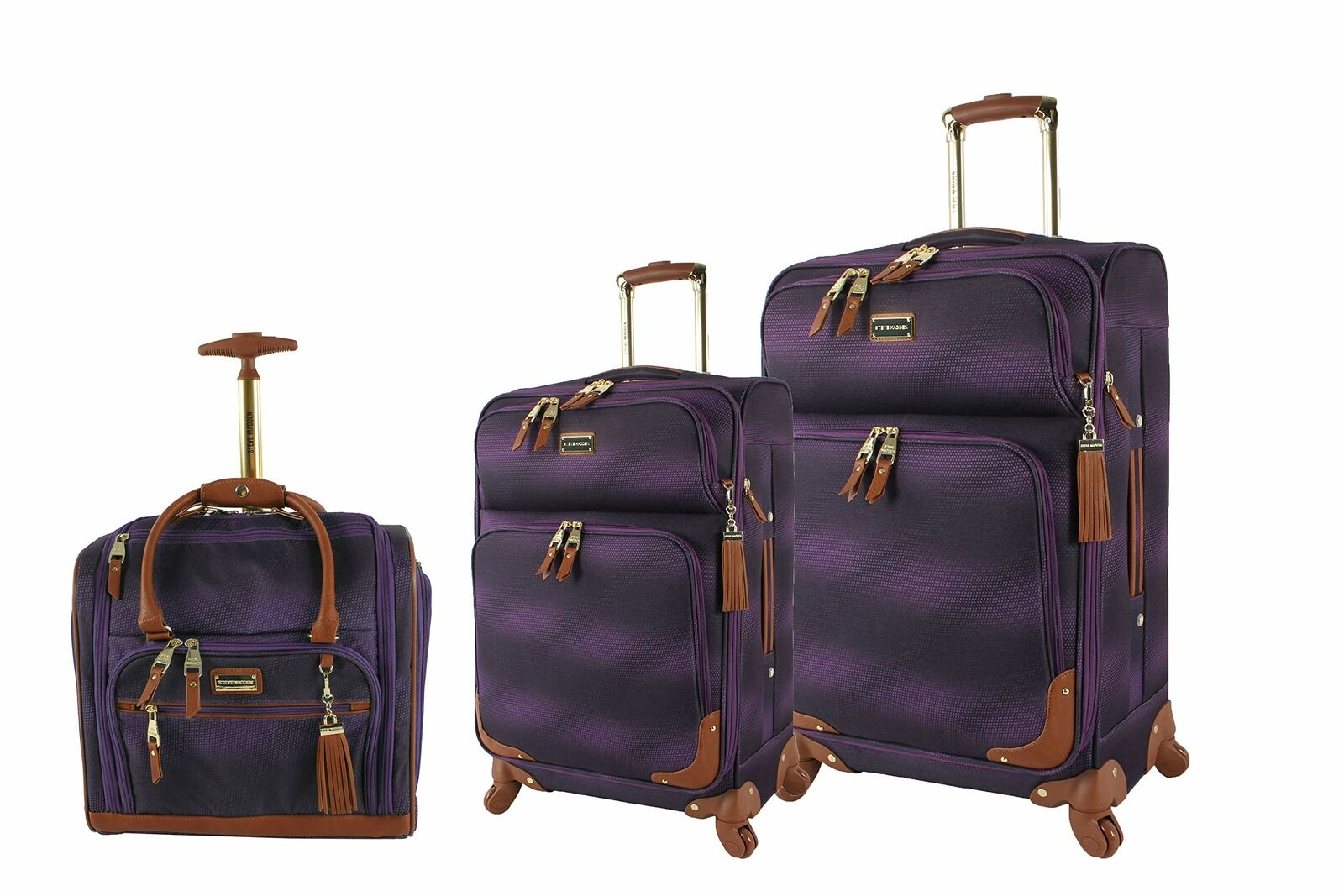Steve Madden Cubic Luggage 3 Piece Hardside Suitcase With Spinner Wheels 10487724