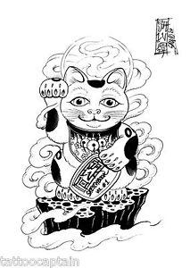 SALVIO Oriental Tattoo Flash Book Vol.1 Buddha Hannya Cat ...