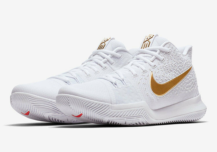 Nike Kyrie 3 Finals EP White Gold Red size 10.5. 852396-902. The latest discount shoes for men and women