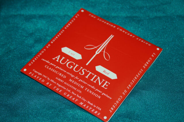 Single String E or 1st Augustine REGAL Classical Guitar String 12-PACK