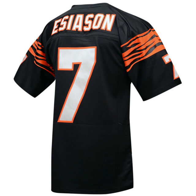 on sale 0a445 2b182 Cincinnati Bengals Boomer Esiason Sz L Mitchell & Ness Throwback Jersey
