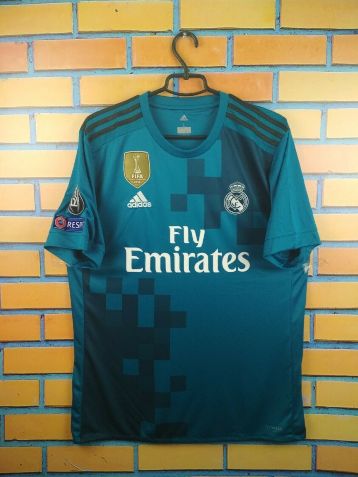 Real Madrid third jersey gree 2019 shirt BR3539 soccer footbtutti Adidas
